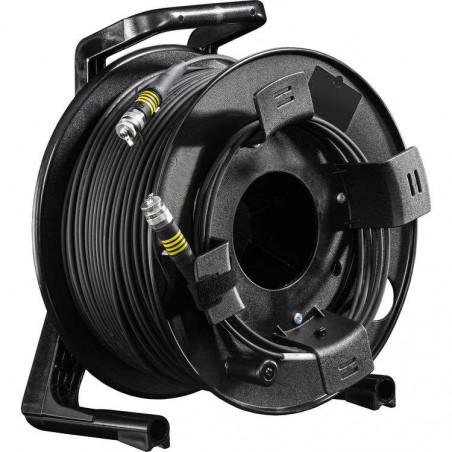 4Core SM Ultra Light, 200m on drum FieldCast Cavo Fibra ottica 4Core 200m con avvolgicavo