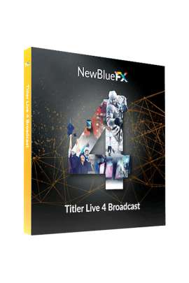 Titler live 4 New Blue FX Software dynamic 3D per MAC e Windows