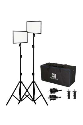 NGLUXPAD43 Kit di 2 lampade Nanguang LED Bicolor + 2 light stands + bag