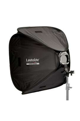 Softbox Lastolite 38 x 38 cm con staffa / attacco per flash a slitta