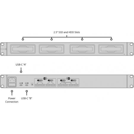 MultiDock 10G Blackmagic docking SSD, 4 slot indipendenti