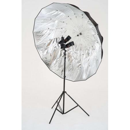 Mega ombrello Lastolite parabolico diametro 157 cm silver