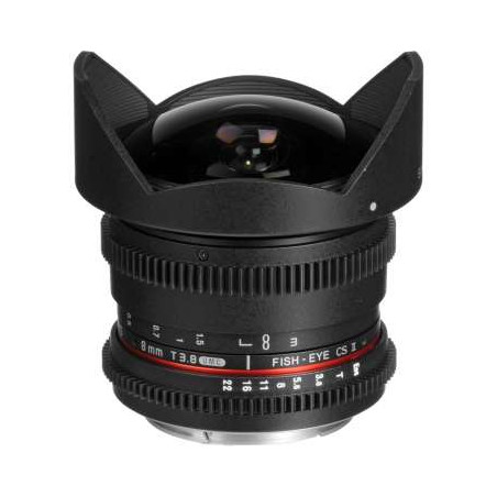 SY81VE Samyang obiettivo 8mm T3.1 Fish Eye CS II SONY E