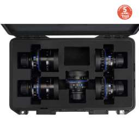 CP3 kit Zeiss di 5 obiettivi Compact Prime + hard case