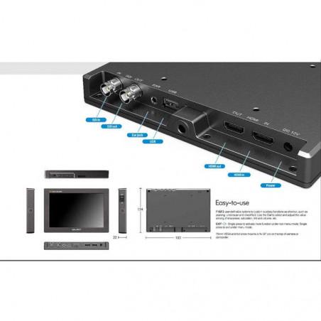 """Q7 Pro Lilliput Broadcast LCD monitor 7"""" 4K Full HD, HDR.3D-LUT, SDI/HDMI"""