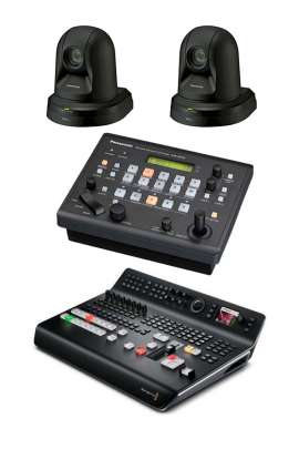 KIT 2 PTZ Panasonic + ATEM Television Studio Pro HD Blackmagic + Remote Camera Controller