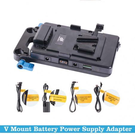 VFU1 Digitalfoto power supply Vlock system e portabatteria + aggancio per aste da 15mm