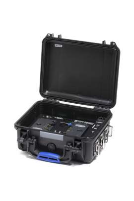 PWS-RUGGED-3S MINI Power-Station Blueshape 48V-28V-14V da produzione sul campo per batterie con attacco Gold-Mount 3-Studs