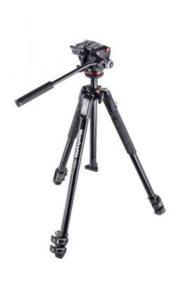 MK190X3-2W Kit Manfrotto serie 190 a 3 sezioni, con testa foto/video fluida