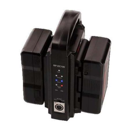PROBANK-2M HEDBOX, Kit di alimentazione con 2 batterie Nero M e un caricabatteria RP-DC100