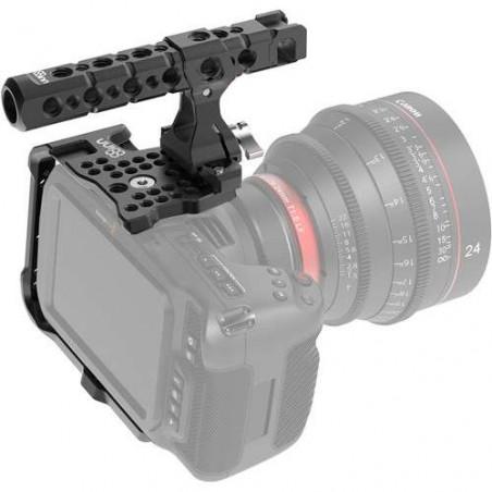 8-BMPCC4K HALF C+THP Half Cage 8Sinn con Top Handle Pro per Blackmagic Pocket Cinema Camera 4K e 6K