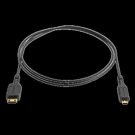 8-EXTRATHIN-MICRO-MINI 8Sinn cavo compatto MICRO HDMI - MINI HDMI da 80cm