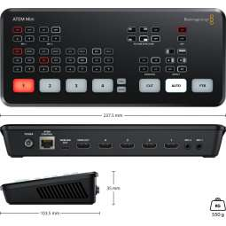 ATEM Mini Blackmagic Switcher 4 ingressi HDMI, DVE integrato, uscita USB