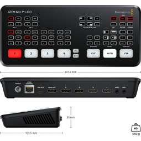 ATEM MINI PRO ISO Blackmagic mixer 4 ingressi HDMI, live streaming e registratore
