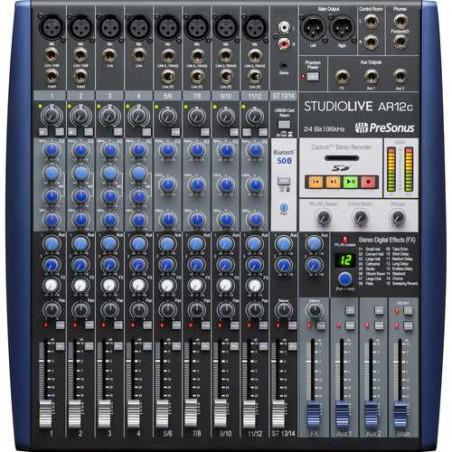 SLAR12C PreSonus mixer ibrido analogico/digitale 14ch, interfaccia USB-C