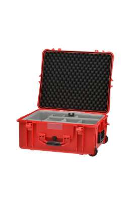 Hard Case Trolley HPRC 2700W RED con divisori interni