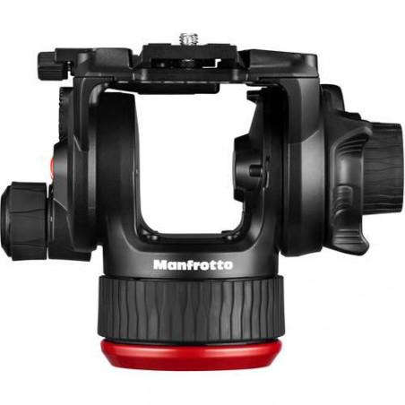 MVK504XTWINMA Manfrotto Testa Fluida 504X e Trep. 2 tubi in Allu. e stab. centr.