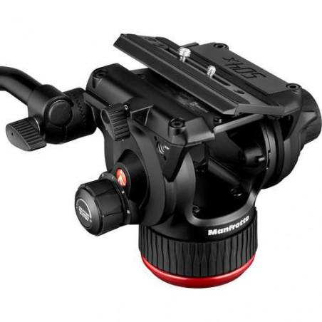MVK504XTWINGA Manfrotto Testa Video Fluida 504X e Trep. 2Tubi in All. con SC