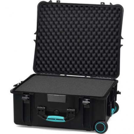 HPRC 2700WCUBBLB Hard Case with Foam (Black with Blue Handle)