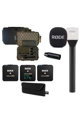 Rode Kit 1 Wireless GO II + Interview GO + VXLR + Valigia