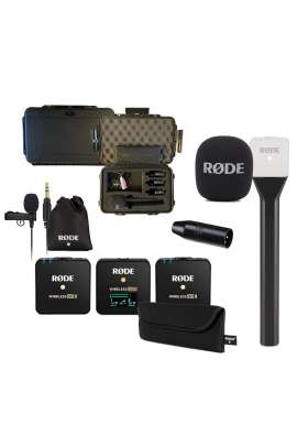 Rode Kit 2 Wireless GO II + Interview GO + Lavalier GO + VXLR + Valigia