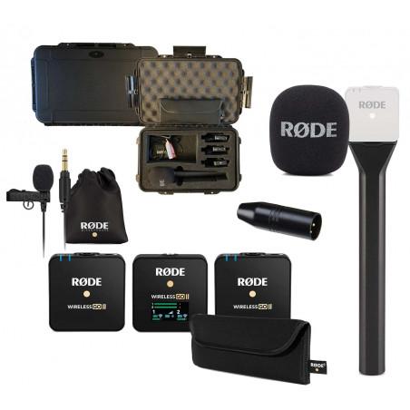 Rode Kit 2 Wireless GO II + Interview GO + Lavalier GO + VXLR + Valigia