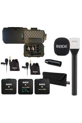 Rode Kit 4 Wireless GO II + Interview GO + n°2 Lavalier GO + VXLR + Valigia