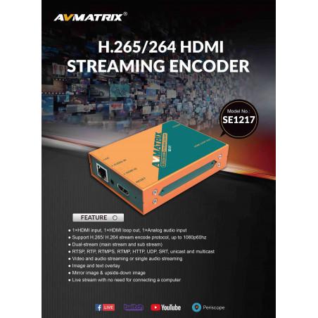 AVMATRIX ENCODER STREAMING H.265/ H.264 HDMI