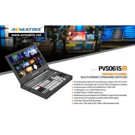 AVMATRIX Streaming Video Switcher SDI HDMI/DVI