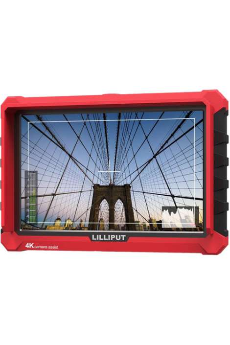 """A7S Lilliput LCD Monitor 7"""" Full HD 4K - Native Resolution in/out HDMI- Usato"""