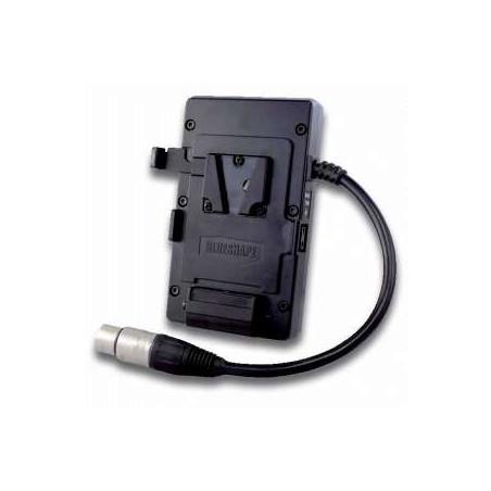 MVBELTS Blueshape Adattatore batteria per cintura Sistema V_Mount con uscita XLR
