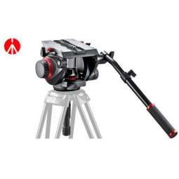 Testa video Manfrotto con semisfera da 100mm, 1 leva telescopica