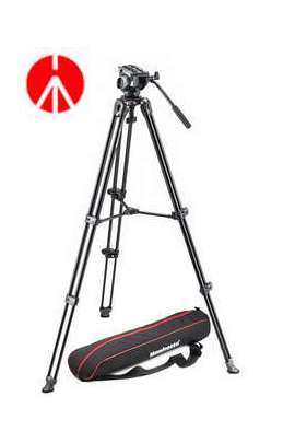 MVK500AM Manfrotto Kit 500, treppiede telescopico a doppio tubo MVT502AM sacca