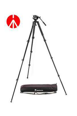 Kit MVK500AQ Manfrotto, video gamba singola, allum, testa 500