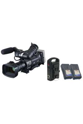 "JVC GY-HM850E Camcorder 3 CMOS 1/3"" 16:9 - QuickTime su schede SD HC + 2 batterie e caricabatterie"