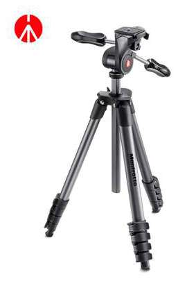 MKCOMPACTADV-BK Manfrotto Treppiede Compact Advanced con testa 3 vie