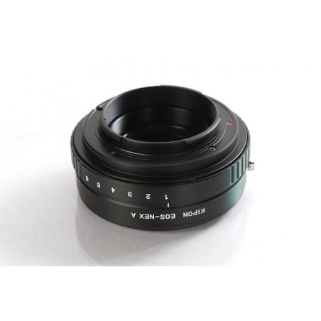 Kipon adattatore EOS-NEX A per Camere Sony NEX con ottiche Canon EOS