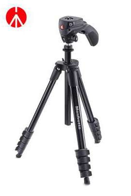 MKCOMPACTACN-BK Treppiede Compact Action Manfrotto nero con testa joystick
