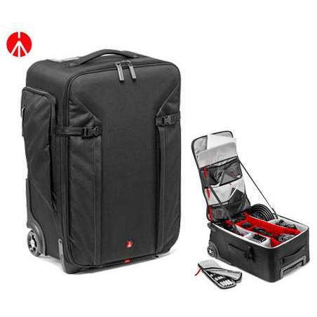 Trolley Manfrotto per reflex grande, laptop, obiettivi e accessori