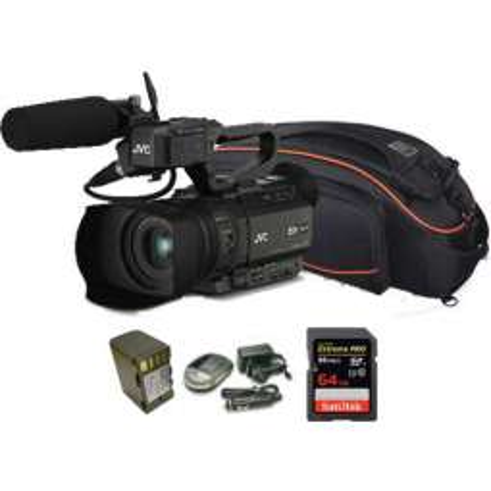 GY-HM170 kit JVC camcorder 4K ULTRA HD + batteria + caricabatteria + scheda 64 GB