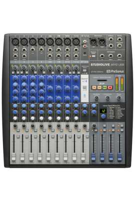 PreSonus mixer ibrido analogico/digitale 12ch, interfaccia USB 2 a 24bit/96 kHz