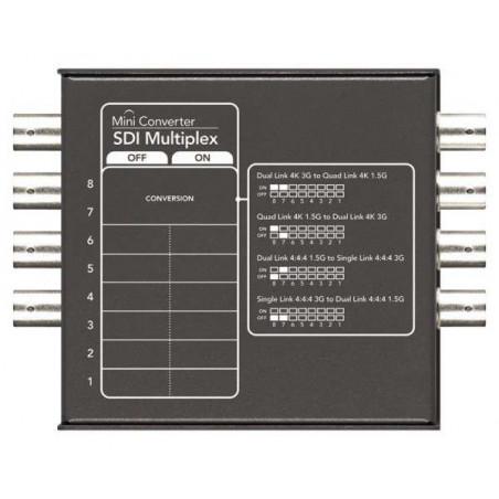 Mini Converter SDI Multiplex Dual 4K Blackmagic 3G o Quad 4K 1.5G