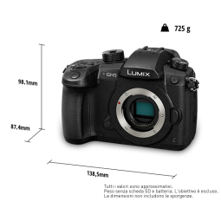 DC-GH5 Panasonic Lumix G Fotocamera Mirrorless 4K, solo corpo