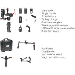 CAME-TV OPTIMUS 3 Axis Gimbal Camera 32bit Boards con Encoders