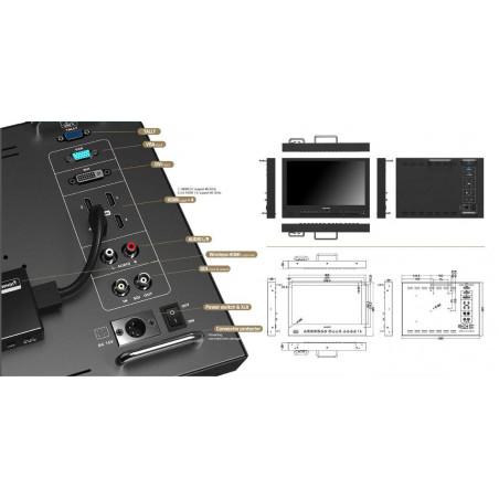 """BM150-12G Lilliput Broadcast LCD Monitor 15.6"""" 12G-SDI 4K HDMI"""