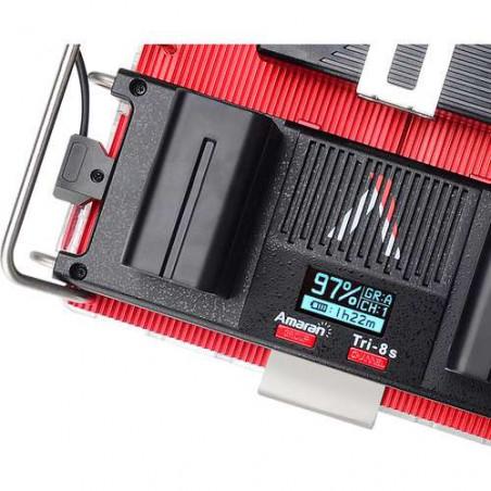 Tri-8sV Aputure faro led Spot Daylight con piastra batteria attacco V-Mount