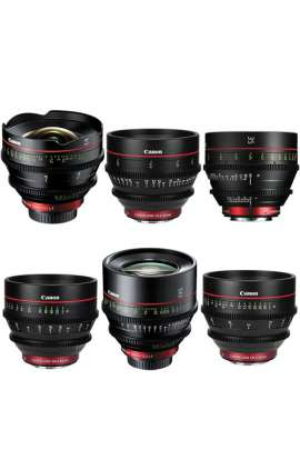 Cinema Prime Lens EF Kit Canon (14, 24, 35, 50, 85, 135mm)