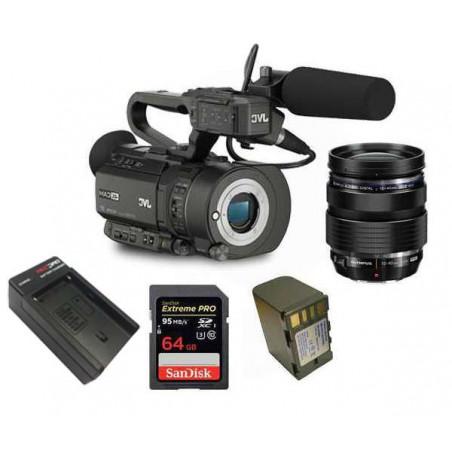 KIT1GYLS300 JVC Kit Camcorder 4K Ready CMOS super35 -Ultra HD 24/30p 150Mbps + accessori
