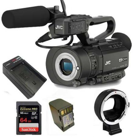 KIT2GYLS300 JVC Kit Camcorder 4K Ready CMOS super35 -Ultra HD 24/30p 150Mbps + accessori