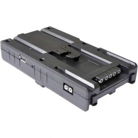 CR4in1-SLVA Cineroid adattatore HUB 4in1 attacco V-lock + 4basi batteria tipo Sony NPF